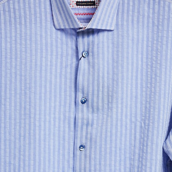Men's Fashion Shirt by Gem Malki - Blue Stripe b
