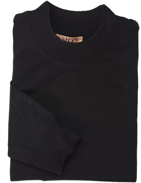 Men's L/S Knit by Inserch / Merc - Mock Neck / Black