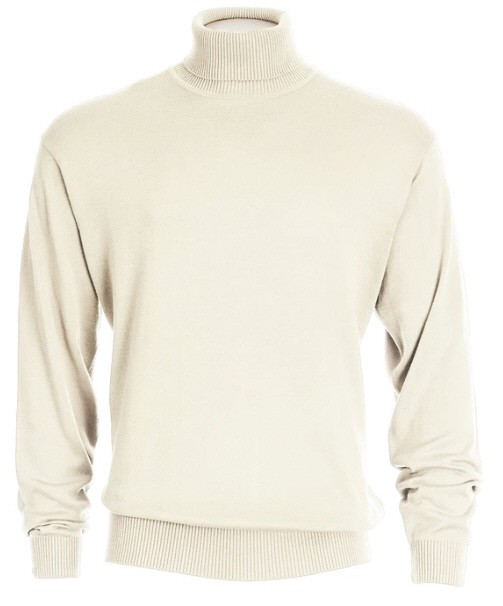 Men's L/S Knit by Inserch / Merc - Turtleneck / Off White