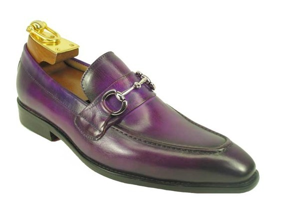 carrucci shoes, mens leather purple shoes, mens leather shoes, dress shoes