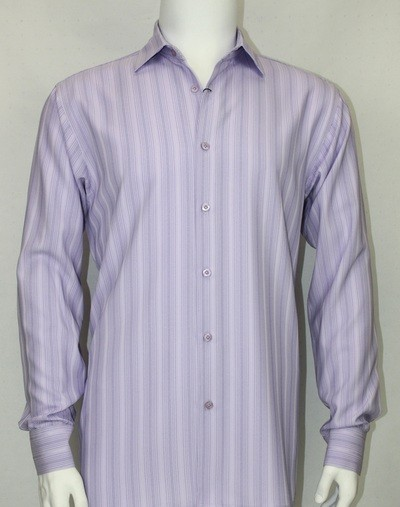 Bassiri L/S Button Down Men's Shirt - Lavender Shadow Stripe