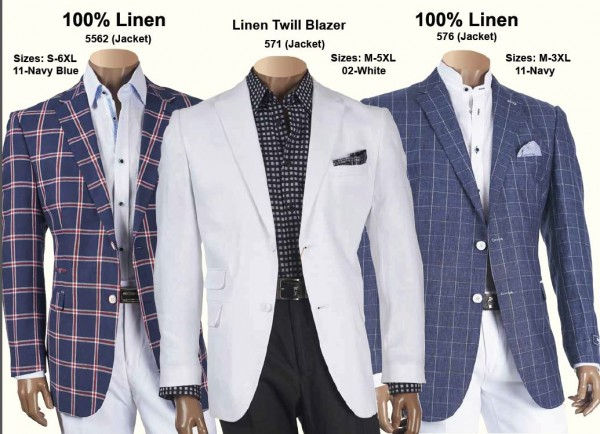Men's  Linen Jackets by Merc/Inserch