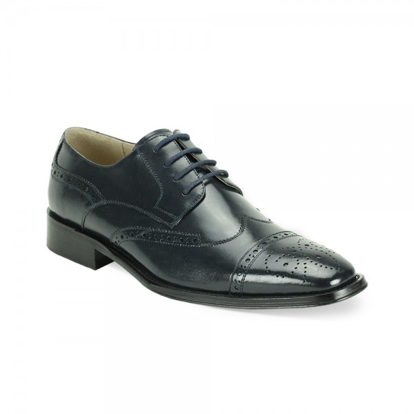 Brogue Lace-Up Men's Shoe by Giovanni - Navy