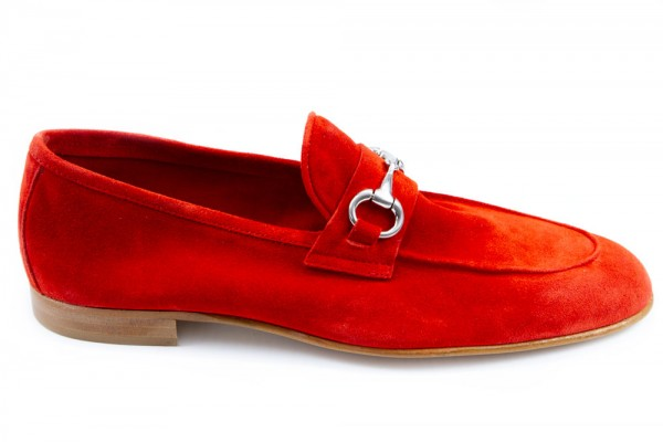 Giovanni Marquez Men's Shoes - Slip-On / Red Suede b