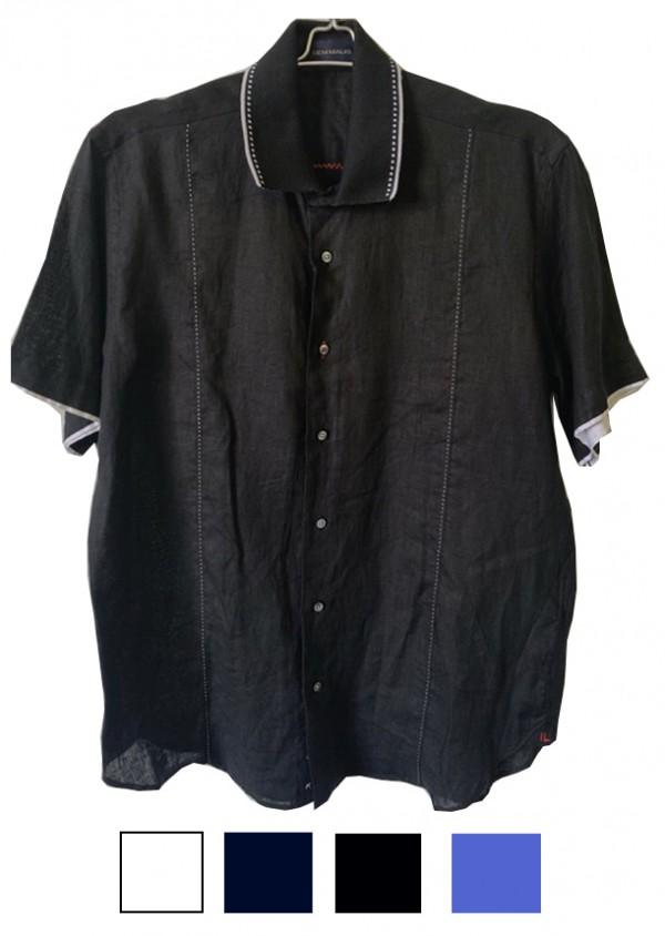 Men's S/S Fashion Shirt by Gem Malki - Linen (4 Colors)