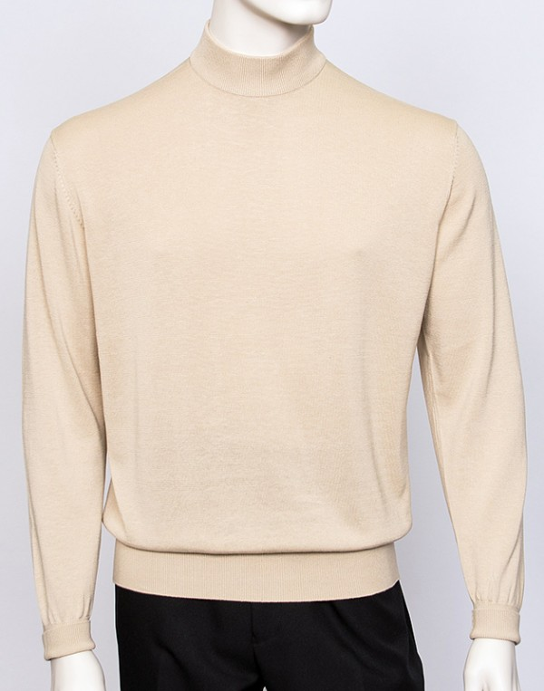 Men's Silk/Cotton Blend Mock Neck by Tulliano - 26 Colors a