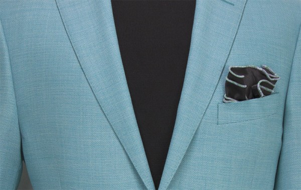 Men's Blazer by Tiglio Luxe - Firenze Lt Teal b