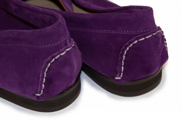 Giovanni Marquez Men's Shoes - Italian Suede Penny Loafer - Purple