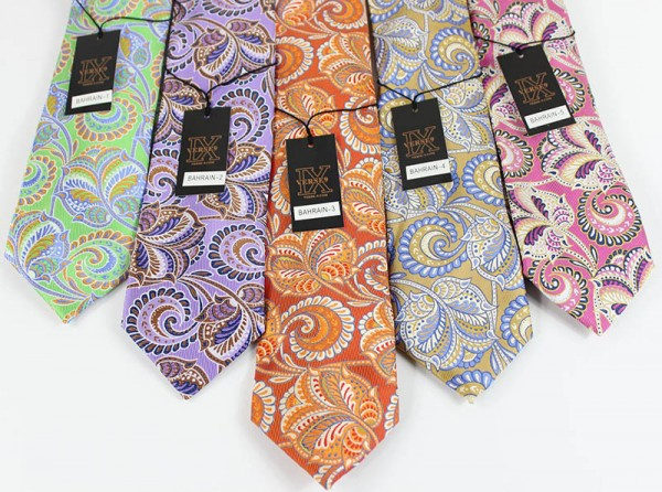 Men's Silk Tie and Pocket Square Set by Verse 9 - BAHRAIN 1-5