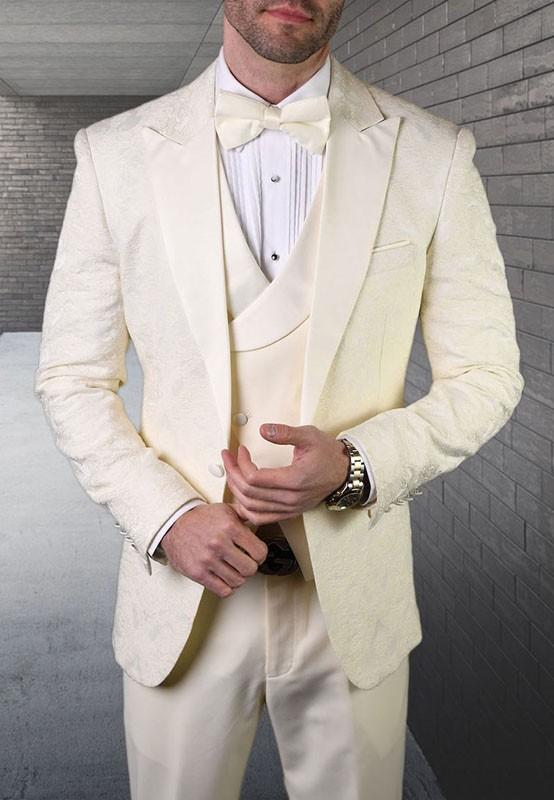 Men's Tux - Tailored Fit - Bellagio-15 Off White