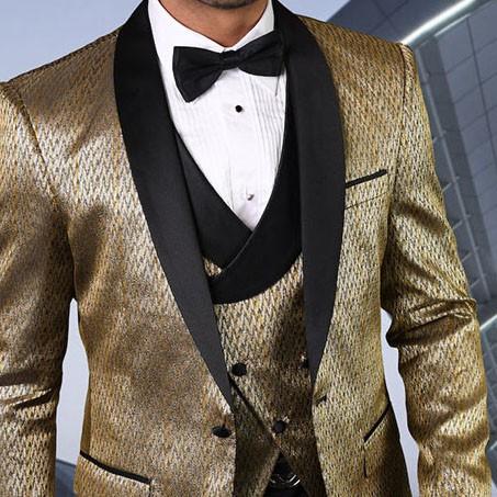 Men's Tux - Tailored Fit - Bellagio-16 Gold