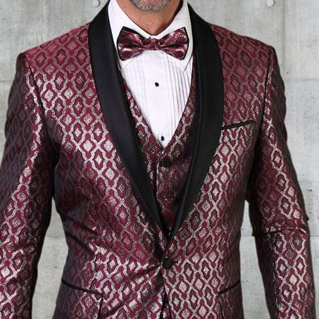 Men's Tux - Tailored Fit - Bellagio-21 Burgundy b