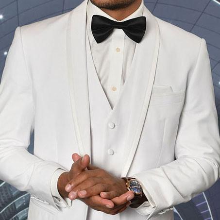 Men's Tux - Tailored Fit - Caesar White b