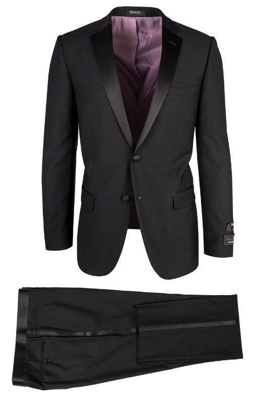 Dandy Black Slim Fit Tuxedo by Tiglio Luxe