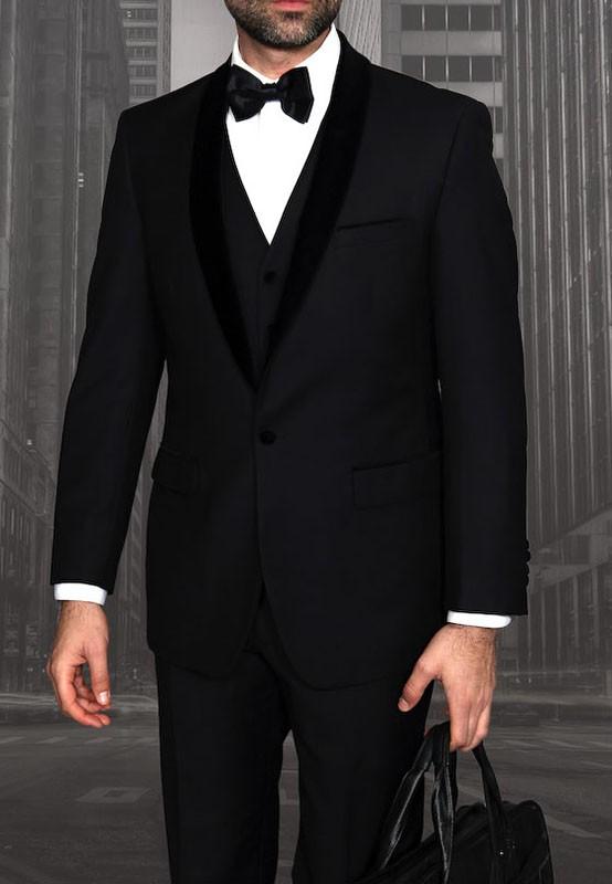 Men's Tux - Tailored Fit - Encore-V Black a