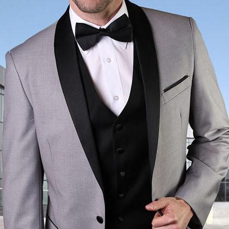 Men's Tux - Tailored Fit - Encore Gray b