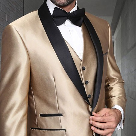 Men's Tux - Tailored Fit - Enzo-7 Champagne b