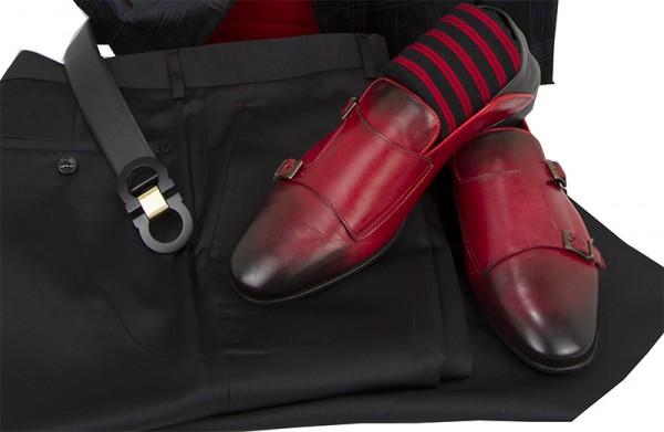Men's Fashion Blazer by Suslo - Black Shadow Plaid c