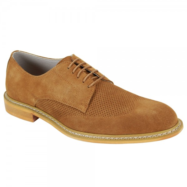 Kennedy Lace-Up Men's Shoe by Giovanni - Tan