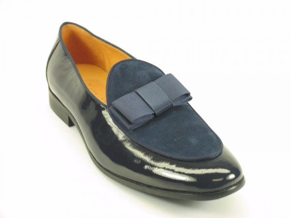 Men's Fashion Shoes by Carrucci - Duo / Bow Navy