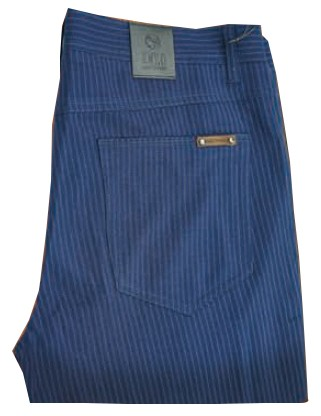 Enzo Denim Collection Mens Jeans - Leo-1 - Blue Stripe