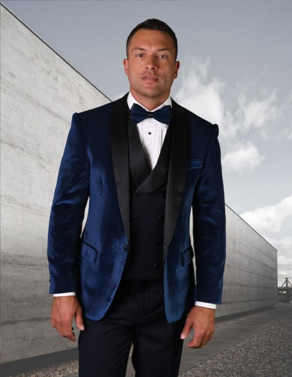 Men's Tux - Tailored Fit - Velvet Navy