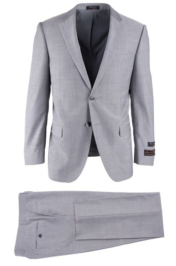 Novello Modern Fit Luxe Suit by Tiglio - Gray
