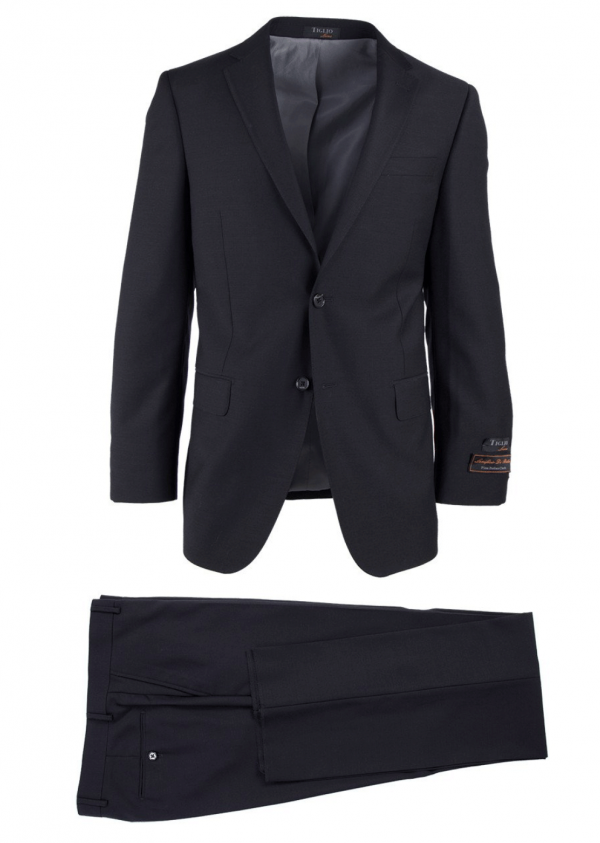 Novello Modern Fit Luxe Suit by Tiglio - Black