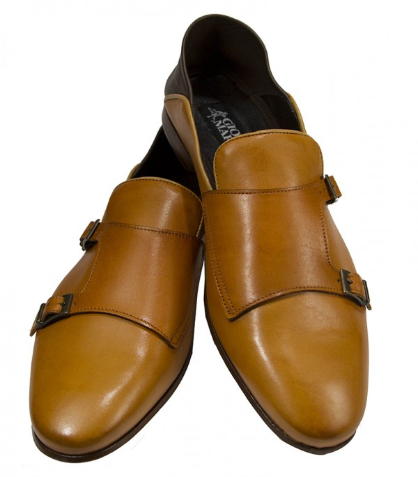 Giovanni Marquez Men's Shoes - Double Buckle / Tan e