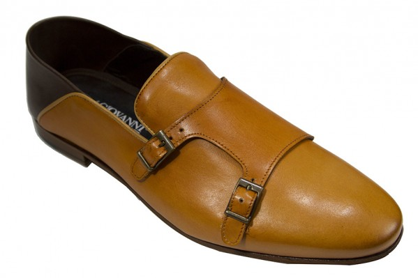 Giovanni Marquez Men's Shoes - Double Buckle / Tan f