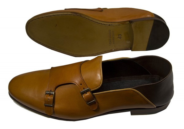 Giovanni Marquez Men's Shoes - Double Buckle / Tan d