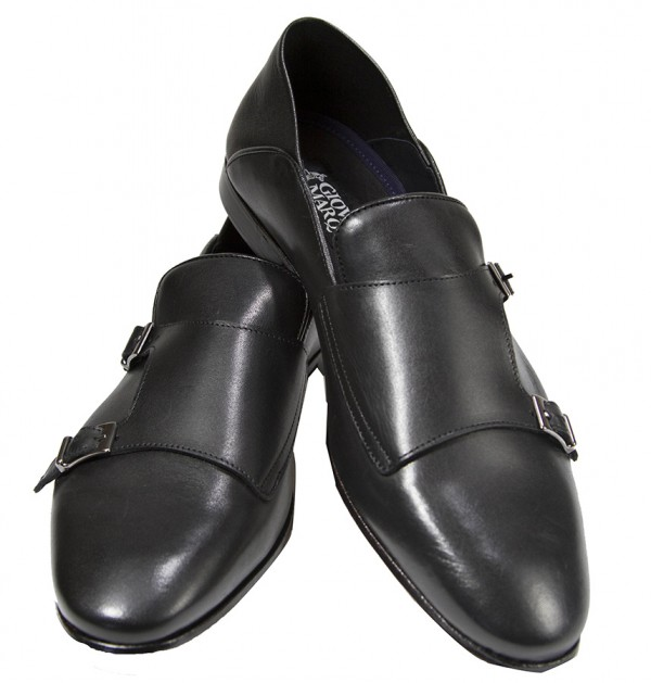 Giovanni Marquez Men's Shoes - Double Buckle / Black e