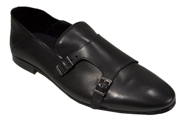 Giovanni Marquez Men's Shoes - Double Buckle / Black d
