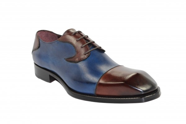 Men's Shoes by Emilio Franco - Brown/Navy