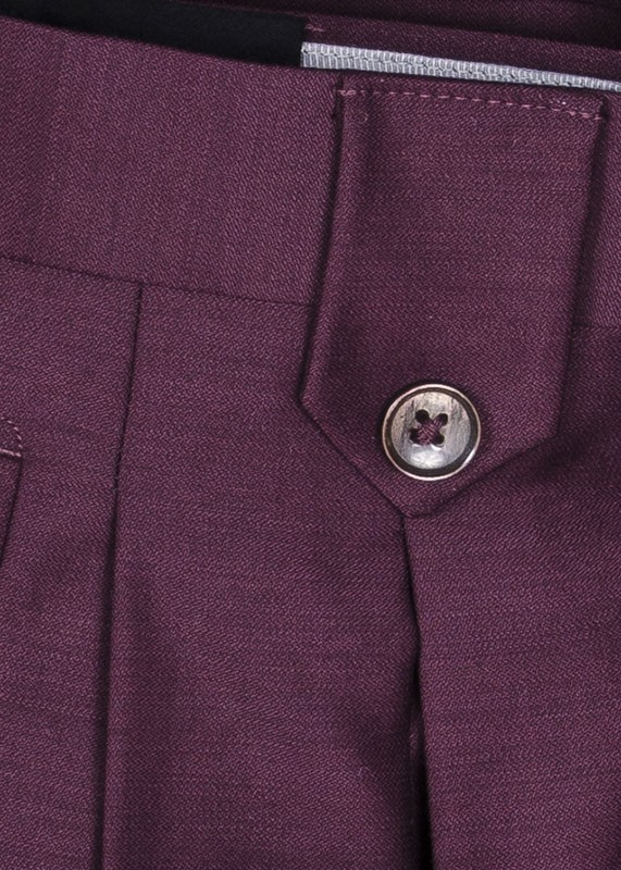 San Giovesse Full Cut Men's Suit  by Tiglio Rosso - Burgundy Pants Detail