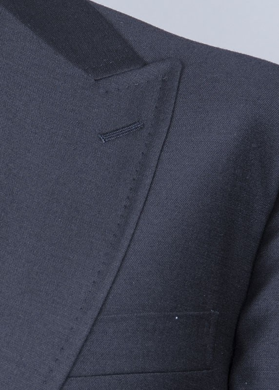 San Giovesse Full Cut Men's Suit  by Tiglio Rosso - Black Lapel Detail