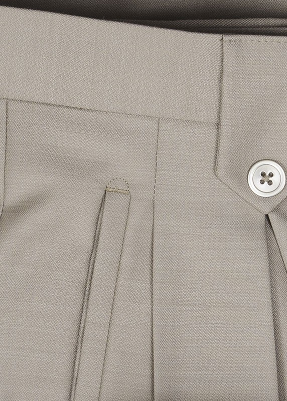San Giovesse Full Cut Men's Suit  by Tiglio Rosso - Taupe Pant Detail