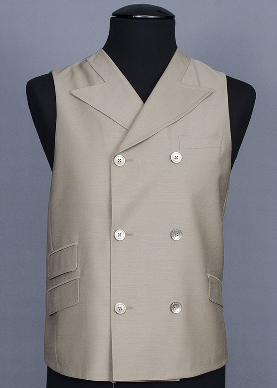 San Giovesse Full Cut Men's Suit  by Tiglio Rosso - Taupe Vest
