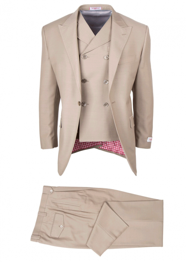San Giovesse Full Cut Men's Suit  by Tiglio Rosso - Taupe