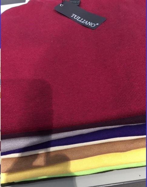 Men's Silk/Cotton Blend Turtleneck by Tulliano - 16 Colors d