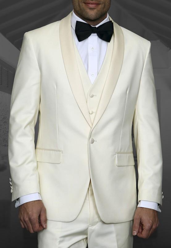 Men's Tux - Tailored Fit - Tux-PK Off White a