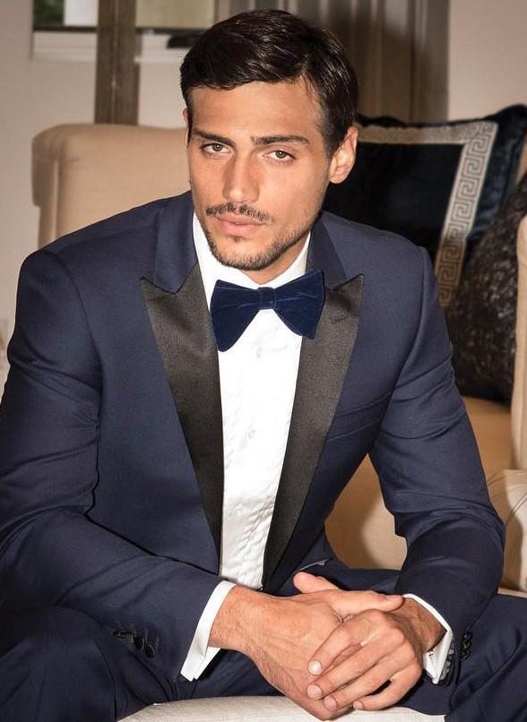 Tuxedo shirt with tux c