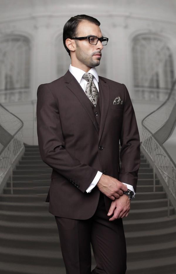 Men's Suit - Regular Fit - Brown