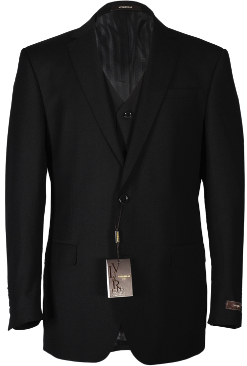 Vitarelli Black 3 piece suit 220