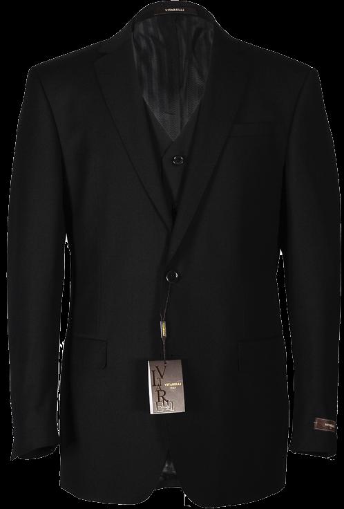 Vitarelli Black 3 piece suit 220