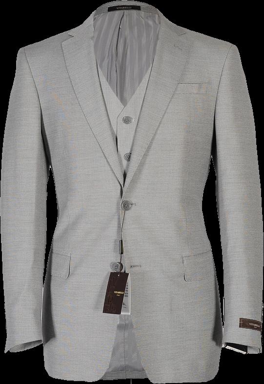 Vitarelli Light Gray 3 piece Suit