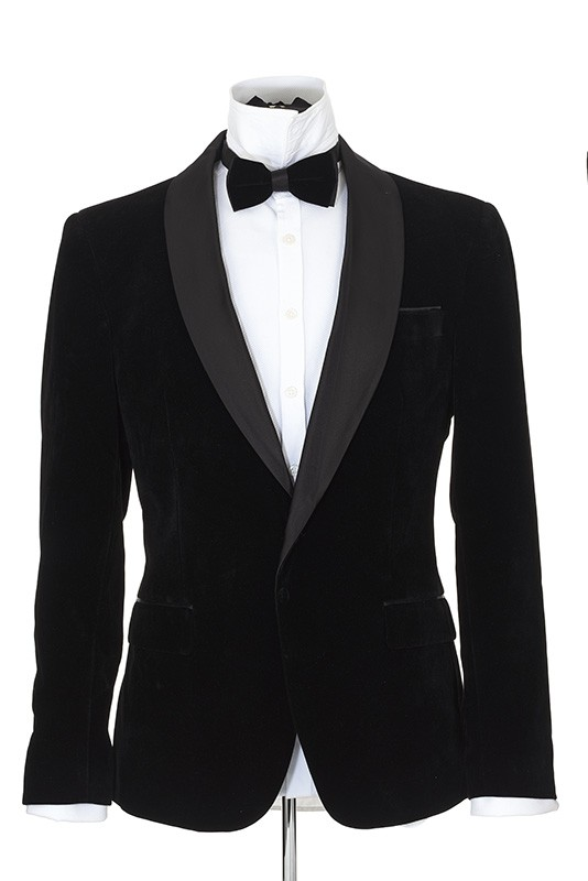 Men's Blazer by Suslo Couture - Velvet / Black