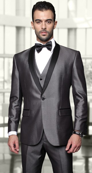Men's Iridescent Tux by STATEMENT - Wynn Grey