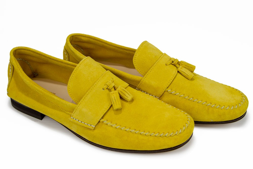 d3650042d53 Giovanni Marquez Men's Shoes - Moccasin Loafer with Tassel - Yellow