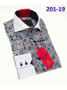 Men's Fashion Shirt by AXXESS - Zebras